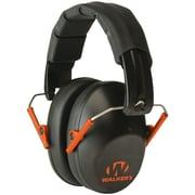 Walkers Game Ear Gwp-fpm1-bko Pro Low-profile Folding Muff (black/orange)