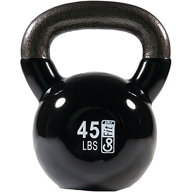 Gofit Gf-kbell45 Contour Kettlebell With Dvd (45lbs; Black)