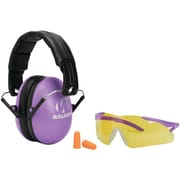 Walkers Game Ear Gwp-ywfm2gfp-pur Youth & Women's Folding Muff With Glasses & Plug Combo Kit (purple)