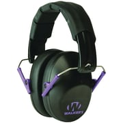 Walkers Game Ear Gwp-fpm1-bkpu Pro Low-profile Folding Muff (black/purple)