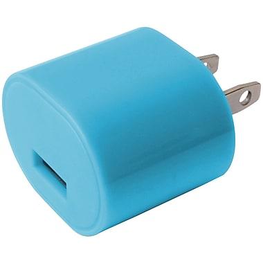 iEssentials – Chargeur mural USB de 1 A, bleu