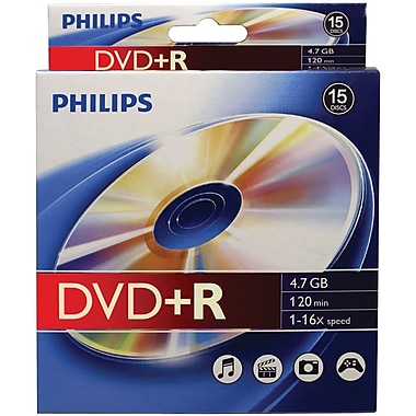 DVD+RS 4,7 Go 16 x Dr4s6b10b/17 de Philips, 10/boîte à accrocher