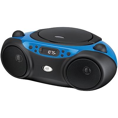 GPX Bc232bu Sporty Cd & Radio Boom Box, Blue