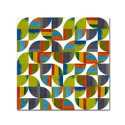 "Trademark Fine Art Michelle Calkins 'Quarter Rounds 5.0' 14"" x 14"" Canvas Stretched (190836075829)"