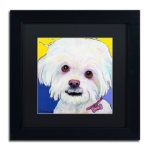 "Trademark Fine Art Pat Saunders-White 'Lucy' 11"" x 11"" Matted Framed (190836060795)"