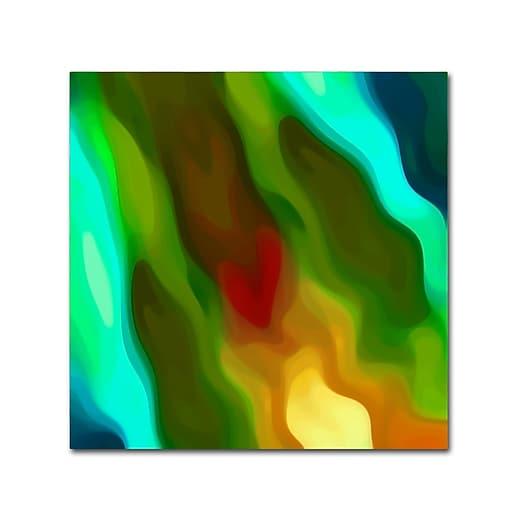 "Trademark Fine Art Amy Vangsgard 'River Runs Through Square 2' 14"" x 14"" Canvas Stretched (886511935976)"