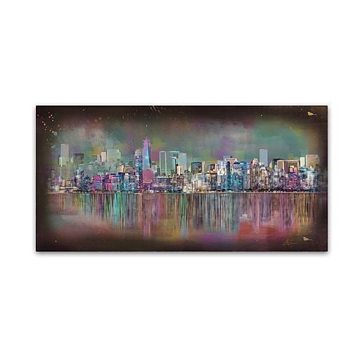 "Trademark Fine Art Ellicia Amando 'New York City' 10"" x 19"" Canvas Stretched (190836278701)"