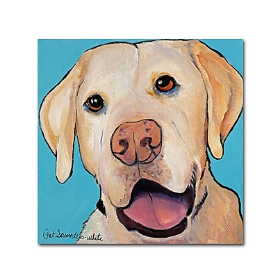 Trademark Fine Art Pat Saunders-White 'Lucky Dog 14