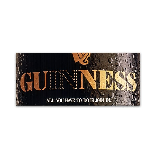 """Trademark Fine Art Guinness Brewery 'All You Have To Do Is Join In' 8"""" x 19"""" Wall Art (190836243662)"""