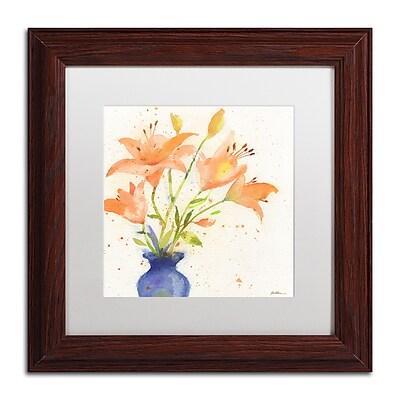Trademark Fine Art Sheila Golden 'Tiger Lily Bouquet' 11