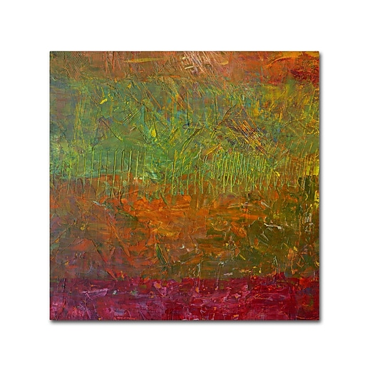 "Trademark Fine Art Michelle Calkins 'Fallen Leaves' 14"" x 14"" Canvas Stretched (190836069583)"
