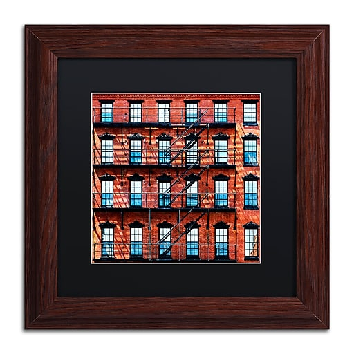 "Trademark Fine Art Philippe Hugonnard 'Brick Building' 11"" x 11"" Matted Framed (190836120727)"