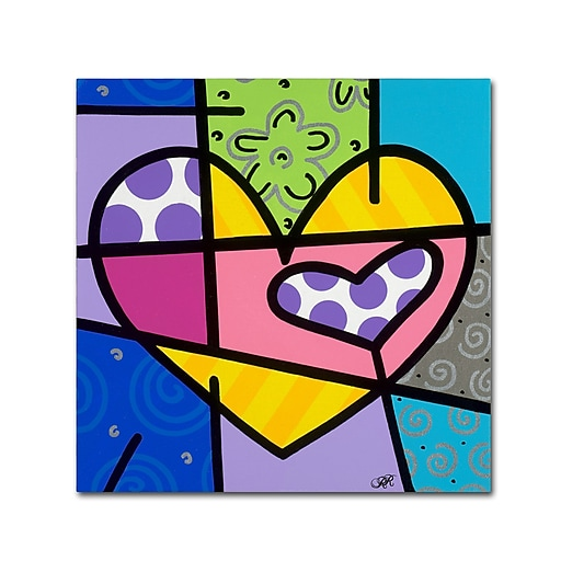 "Trademark Fine Art Roberto Rafael 'Big Heart IV' 14"" x 14"" Canvas Stretched (190836280841)"
