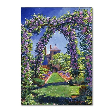 Trademark Fine Art David Lloyd Glover 'English Rose Arbor' 14