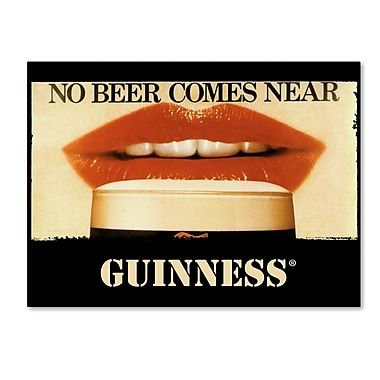 Trademark Fine Art Guinness Brewery 'No Beer Comes Near' 14