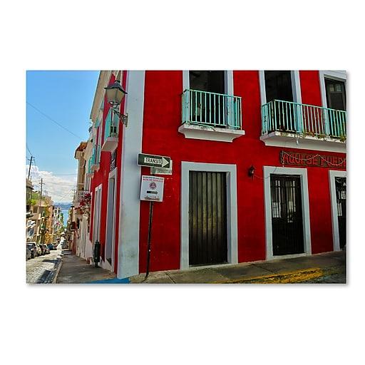 "Trademark Fine Art CATeyes 'Old San Juan 13' 12"" x 19"" Canvas Stretched (190836040032)"