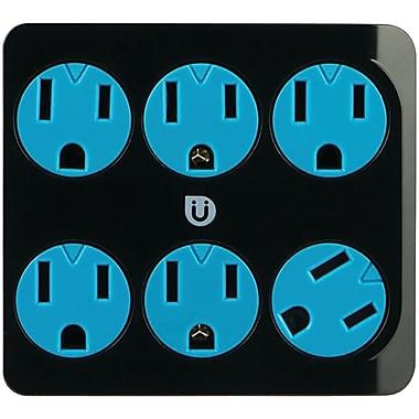 Ge 25112 Uber 6-outlet Power Tap (black & Blue)