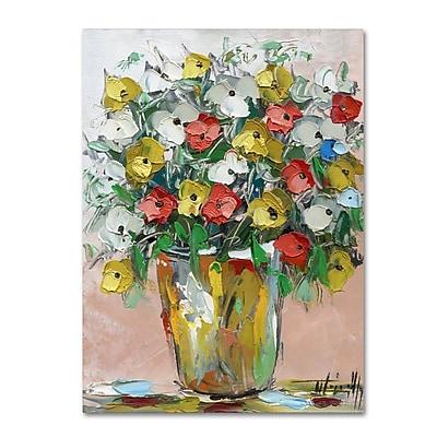 Trademark Fine Art Hai Odelia 'Spring Flowers in a Vase 6' 12