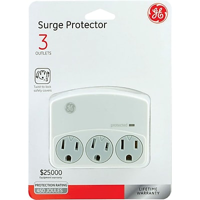 GE 35122 3-outlet Surge-protector Wall Tap