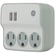 General Electric 32193 3-outlet Current Wall Tap With Usb Port