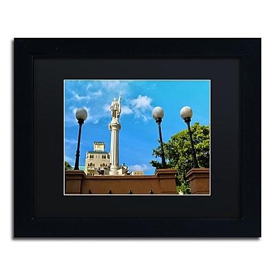 "Trademark Fine Art CATeyes 'Plaza Colon San Juan' 11"" x 14"" Matted Framed (190836040711)"