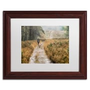 "Trademark Fine Art Cora Niele 'Walking the Dogs' 11"" x 14"" Matted Framed (190836317042)"