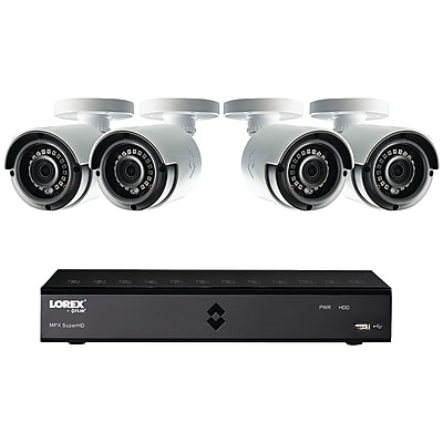 Lorex By Flir Lha21081tc4b 8-channel Mpx 1080p Hd 1tb Dvr With 4 Weatherproof Ir Cameras