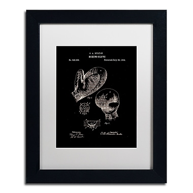 Trademark Fine Art Claire Doherty 'Boxing Gloves Patent 1894 Black' 11