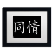 "Trademark Fine Art Compassion-Horizontal Black' 11"" x 14"" Matted Framed (886511949126)"