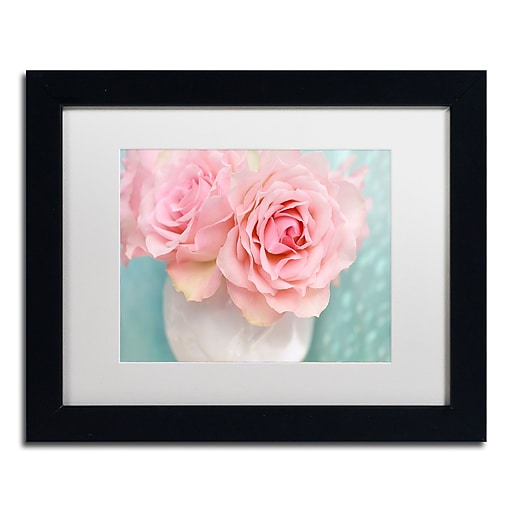 "Trademark Fine Art Cora Niele 'Pink Rose Bouquet' 11"" x 14"" Matted Framed (190836260065)"