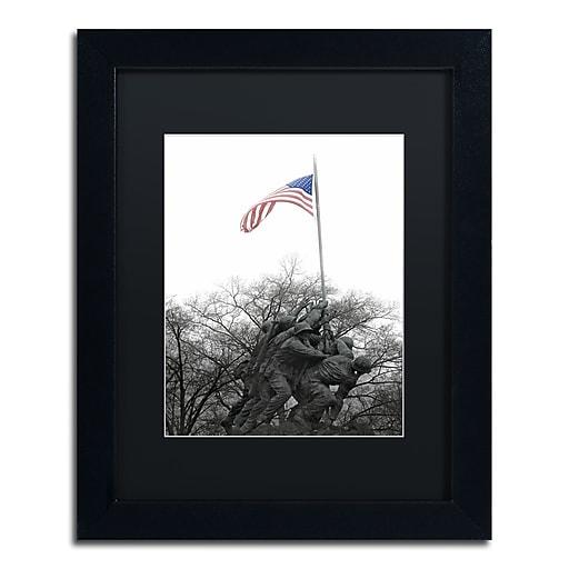 "Trademark Fine Art CATeyes 'Courage' 11"" x 14"" Matted Framed (190836098385)"