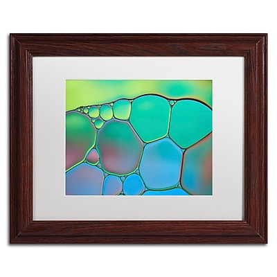 Trademark Fine Art Cora Niele 'Lime Green and Blue Stained Glass' 11