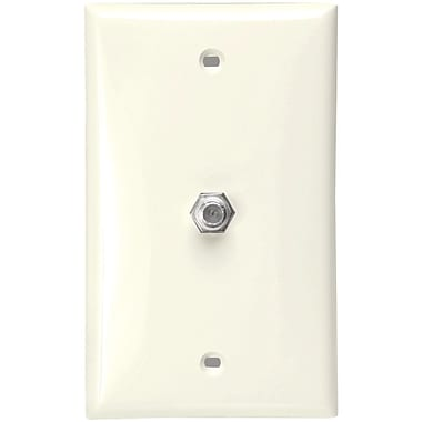 Leviton 80781-t F-connector Wall Plate (light Almond)