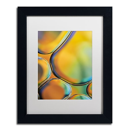 "Trademark Fine Art Cora Niele 'Orange Drops' 11"" x 14"" Matted Framed (190836253982)"