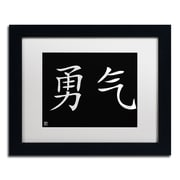 "Trademark Fine Art Courage-Horizontal Black' 11"" x 14"" Matted Framed (886511949324)"