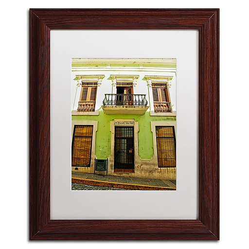 "Trademark Fine Art CATeyes 'Old San Juan 5' 11"" x 14"" Matted Framed (190836038718)"