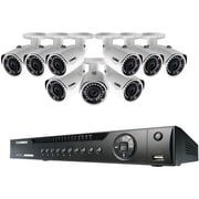 Lorex By Flir Lnr416s3c9b 16-channel Nvr With 9 3.0-megapixel Poe Ip Cameras