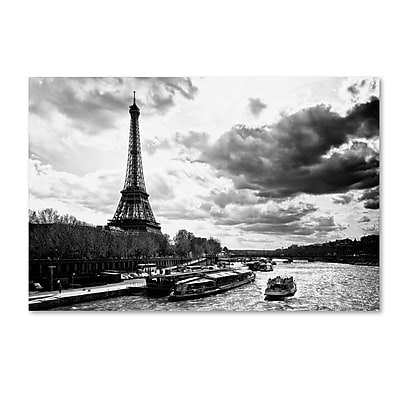 "Trademark Fine Art Philippe Hugonnard 'Romantic Stroll in Paris' 12"" x 19"" Canvas Stretched (190836114238)"