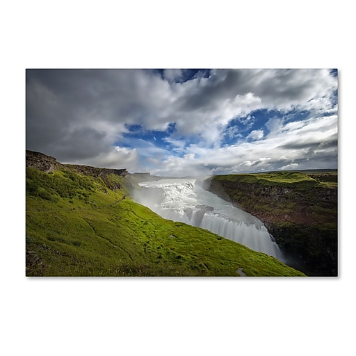 "Trademark Fine Art Philippe Sainte-Laudy 'Gullfoss' 12"" x 19"" Canvas Stretched (190836298907)"
