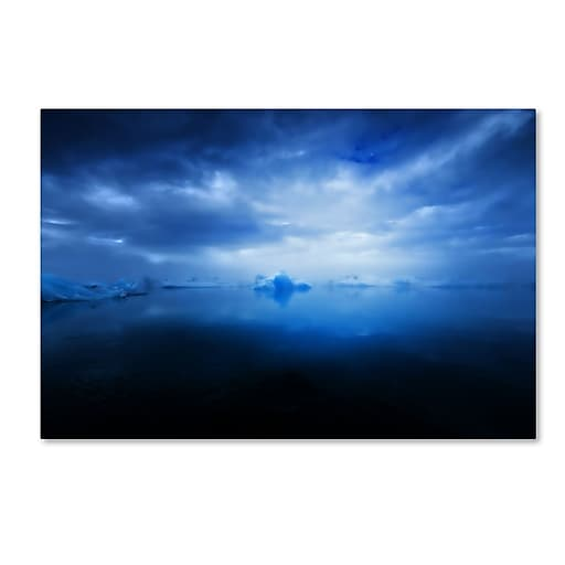"""Trademark Fine Art Philippe Sainte-Laudy 'Blue Ice' 12"""" x 19"""" Canvas Stretched (190836286607)"""