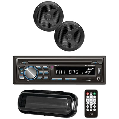 Pyle Plcdbt75mrb Marine Single-din In-dash Cd AM/FM Receiver with Two 6.5