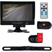 Pyle Plcmdvr72 Monitor System With 2 Interior Dvr Dash Cams & License-plate Camera
