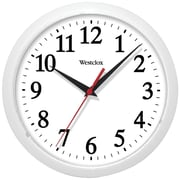 "Westclox 461761 10"" Basic Wall Clock (white)"