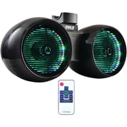 "Pyle Plmrwb652leb Hydra Series Speaker Tower With Two 6.5"" 400-watt 2-way Wakeboard Speakers & Multicolor Led Lights"
