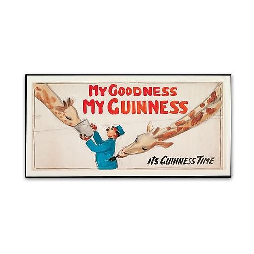 """Trademark Fine Art Guinness Brewery 'My Goodness My Guinness III' 12"""" x 24"""" Wall Art (190836244928)"""