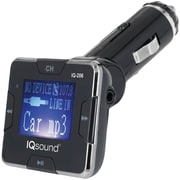"Supersonic Iq-206 Silver Wireless Fm Transmitter With 1.4"" Display (silver)"