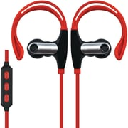 Supersonic Iq-131bt-red Sweatproof Bluetooth Sport Earbuds With Microphone (red)