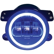 Race Sport Rs 4fhalob 4 inch 30 watt Led Jeep Fog Light Kit with Cree Led Halo, Blue by