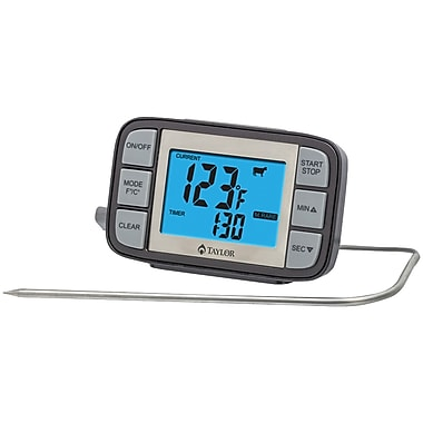Taylor 808gw Customizable Probe Thermometer & Timer
