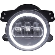 "Race Sport Rs-4fhalow 4"" 30-watt Led Jeep Fog Light Kit With Cree Led Halo (white)"